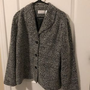 Alfred Dunner jacket black and white with sequins
